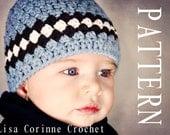 Baby Hat Crochet PATTERN, Baby Beanies, Crochet Beanie PATTERN, Baby Boy Hats, Crochet Baby Hats, Crochet Newborn Hat PATTERN