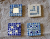 Lot 4 magnets bleues (BLUE MAGNETS)
