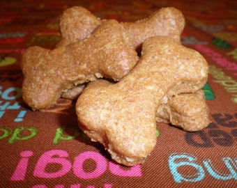 "1lb Natural Peanut Butter Dog Treats- ""Paws Up for Peanut Butter"" by Bubbas' Nummies"
