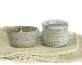 Multi-Purpose Small Pottery Bowls, Set of Two, Jewelry, Tea Light Candles, Beads, etc.
