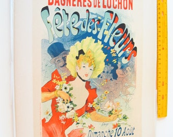 Jules Cheret, Maitres de L'Affiche Poster, French 1898, Plate 101. Ad for the Flower Show at Bagneres de Luchon.