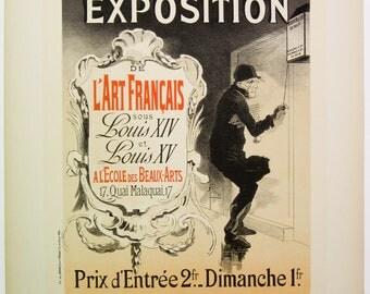 Jules Cheret, Maitres de L'Affiche Poster, French 1898, Plate No.137, Paris Shelter Fundraiser.