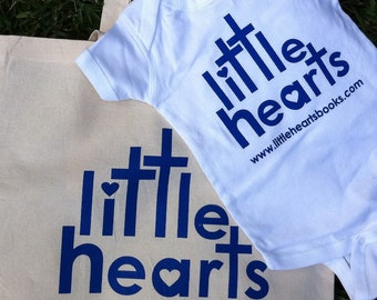 Little Hearts Tote and Onesie Bundle