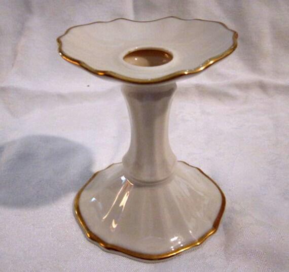 Vintage lenox china porcelain candle holder by oldstuffnyc