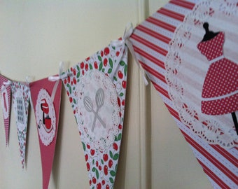 Retro Housewife Wedding Shower Banner (Made to Order)