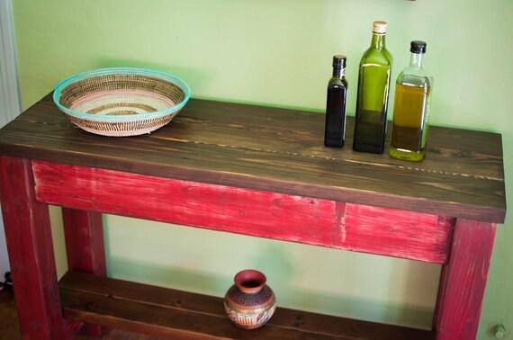 reclaimed wood kitchen island / buffet / sideboard / foyer or sofa table