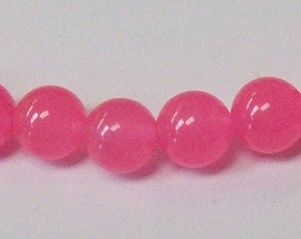 Pink Dyed Jade 8mm