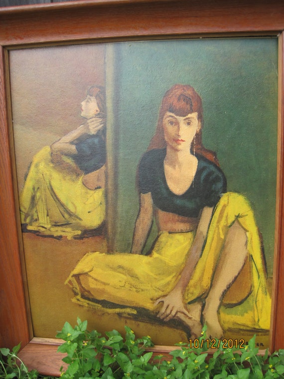 Dancers At Rest By Moses Soyer Lithograph Art By
