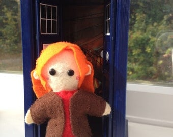Doctor who Dr Amy Pond 11th doll plush toy chibi style