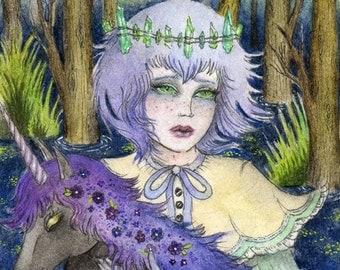 Portrait of Svein The Swamp Ghost Print