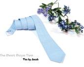 Black Friday Etsy/Tie for Boys Elegant gentleman.... Tie light blue/Ready to Ship