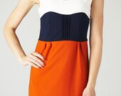 Auburn Gameday Dress Orange and Navy Game Day Dress UVA Colorblock Sweetheart