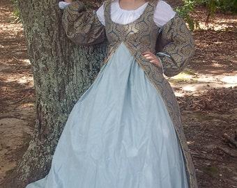 Empire Waisted Overdress, LARP, SCA, Renaissance Faire, Cosplay, Princess