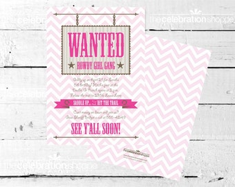 COWGIRL Birthday Party INVITATION from The Celebration Shoppe