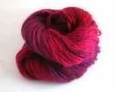 Yarn hand dyed Cashmere yarn  hand spun Untamed
