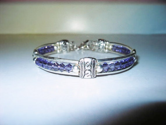 Tanzanite Crystal Bracelet  7 to 9 inch