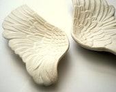 Angel Wings Wall Art - Apollo Hanging Porcelain wings. White Porcelain Bird or Angel Wing Sculptures. Angel Wings Wall Decor