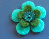 blue and green should never be seen felt pin - badge