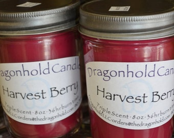 Harvest Berry Candle: Hand Poured, Triple Scented Soy-Paraffin Candle