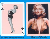 Marilyn - 4 Playing Cards for Use in Collage, Mixed Media and Artist Trading Cards