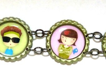 Pulsera de chapas - Bottlecap bracelet