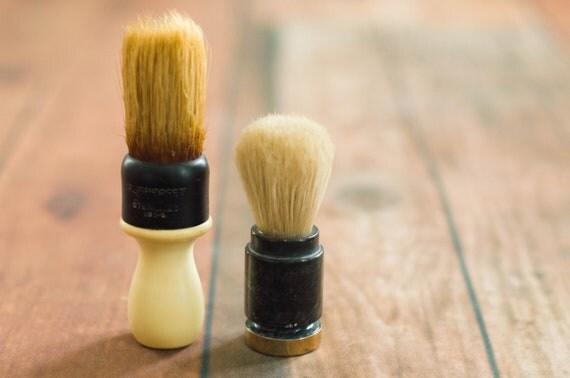 Pair of Vintage Shaving Brushes