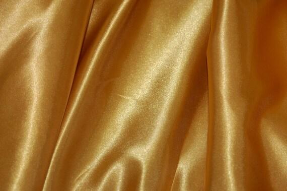 Gold satin fabric by yard