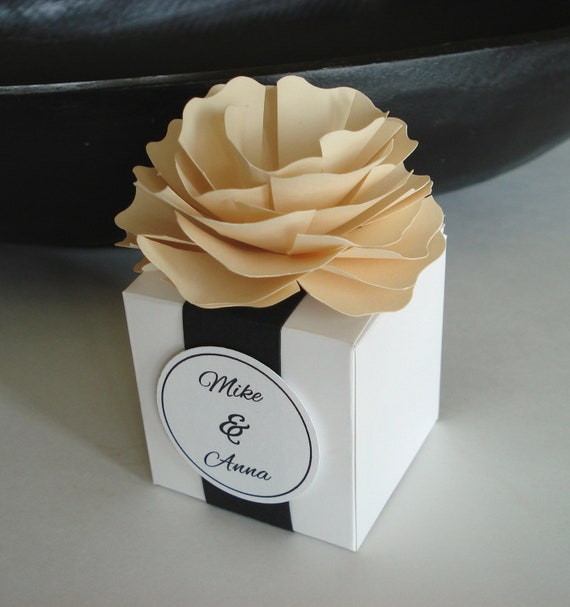 Items Similar To 25 Paper Flower Favor Box For Wedding Or