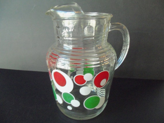 Vintage Pitcher Glass or Water Pitcher