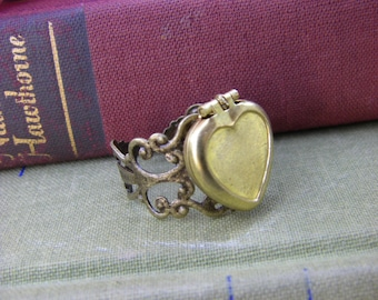 Heart Locket Ring Novelty Ring for Her Valentine's Day under 25