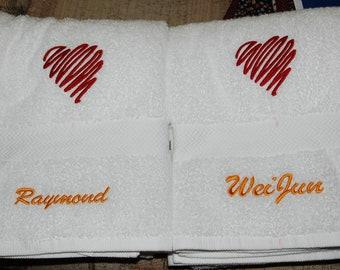 Two Hearts Towel Set