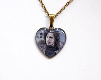 Jon Snow (Kit Harington) - Game of Thrones Jewelry - Jon Snow Pendant - Jon Snow Necklace - Castle Black - House Stark - Winterfell - GoT