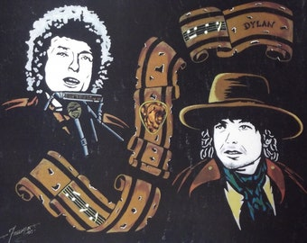 """Bob Dylan in Art is a Limited Edition, 10""""x13"""", numbered Print of the Original Artwork by Artist Charles Freeman"""