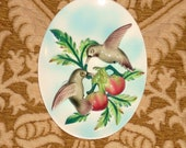 Hummingbirds 3D Wall Plaque - Vintage Napco Ceramic Hanging