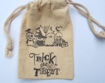 Trick or Treat Halloween Favor Bags / Set of 10 / Halloween Favor Bags