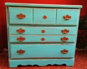 Teal and Copper chest of drawers for Hannah