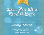 When You Upon a Star Baby Shower Invitation, 5.5x8.5, DIY Printing