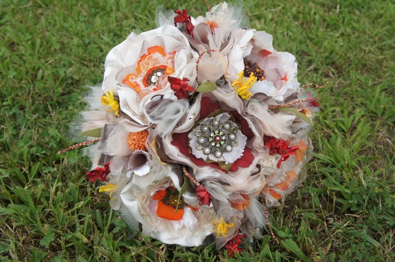 Items similar to on sale bridal vintage fall wedding for Fall wedding bouquets for sale