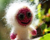 Baby snuggle monster (pink and cream)