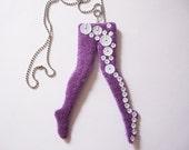 DISCO legging felt necklace - Purple Addiction - Ready to ship