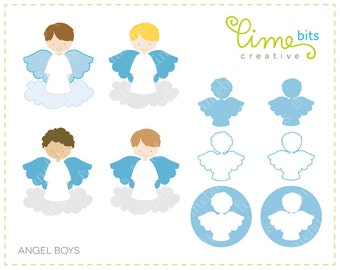 Angel Boys Clip Art
