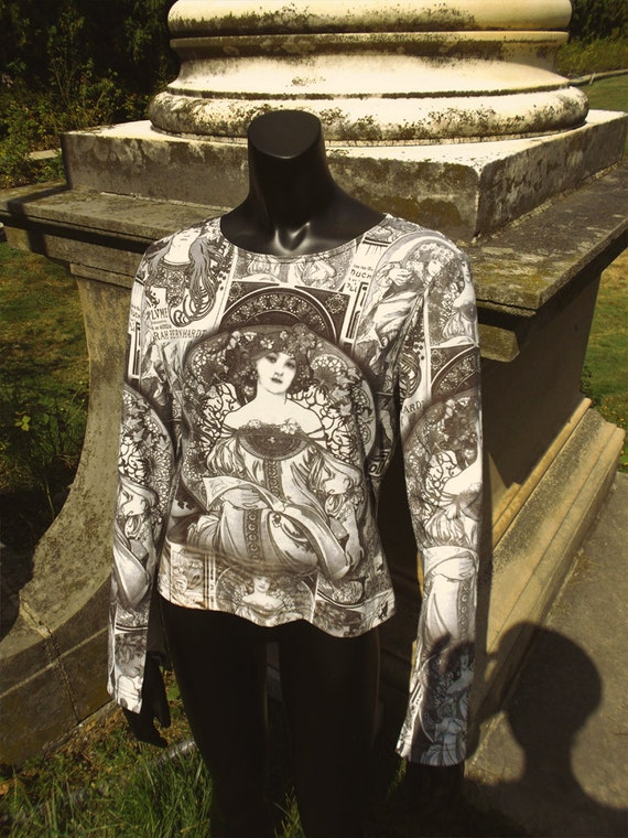 Alphonse Mucha Long Sleeved Shirt Art Nouveau