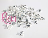 100 - 6x3x2mm Silver Cord Ends