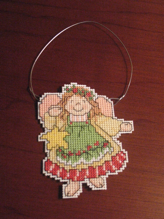 New Angel Christmas Cross Stitch Ornament