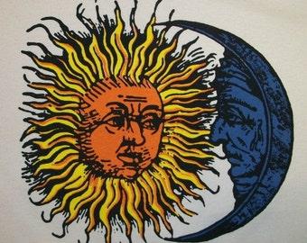 4XL Classic Sun / Moon Crew T-Shirt Natural Color