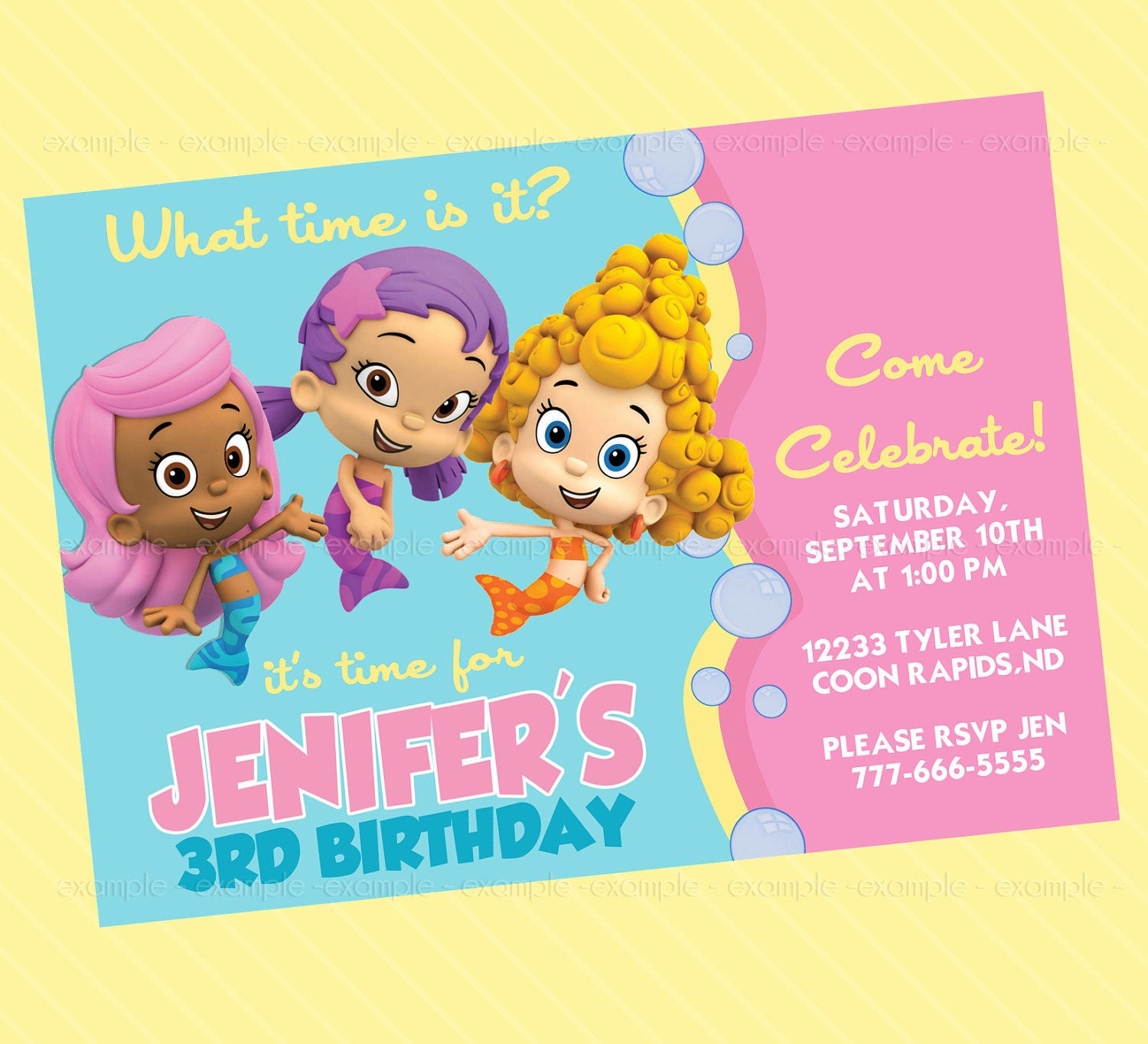 Bubble Guppies Party Invites – Bubble Guppies Party Invites