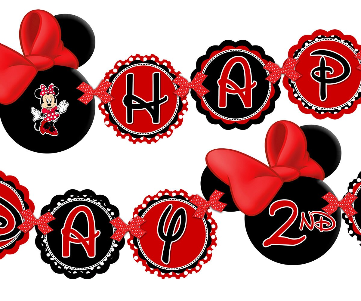 Minnie Mouse Happy Birthday Banner Minnie By
