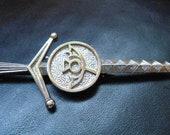 Vintage Silver Tone Scottish Celtic Sword Brooch Very Good Vintage Condition Stunning