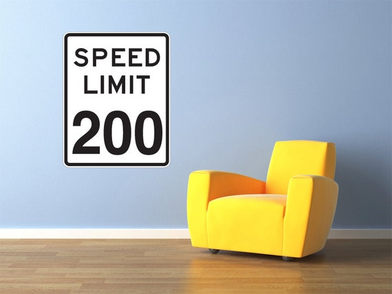 Traffic Signs Wall Decor : Street traffic sign wall decal speed limit by stickerhog