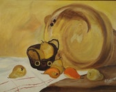2 Still Life Oil Paintings ~ Apples and Pears ~ Combined Listing with free shipping